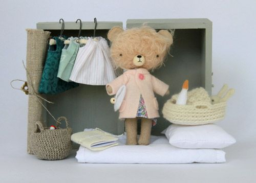 The sweetest little handmade toys I have ever seen, by Manomine