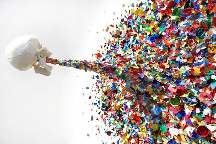 Confetti Death by Miami-based TYPOE manages to be violent and poetic at the same time. A skull is seen vomiting colorful shards of spray pai...: