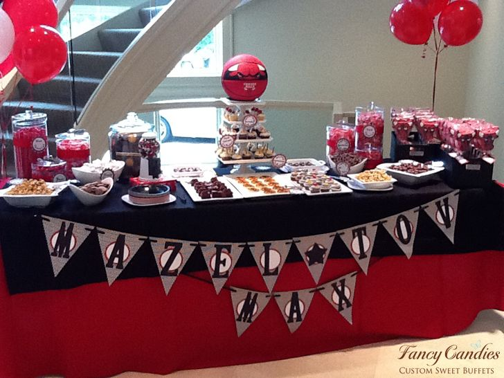 Chicago Bulls Theme Bar Mitzvah @FancyCandies