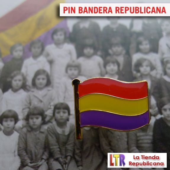 Pin bandera republicana