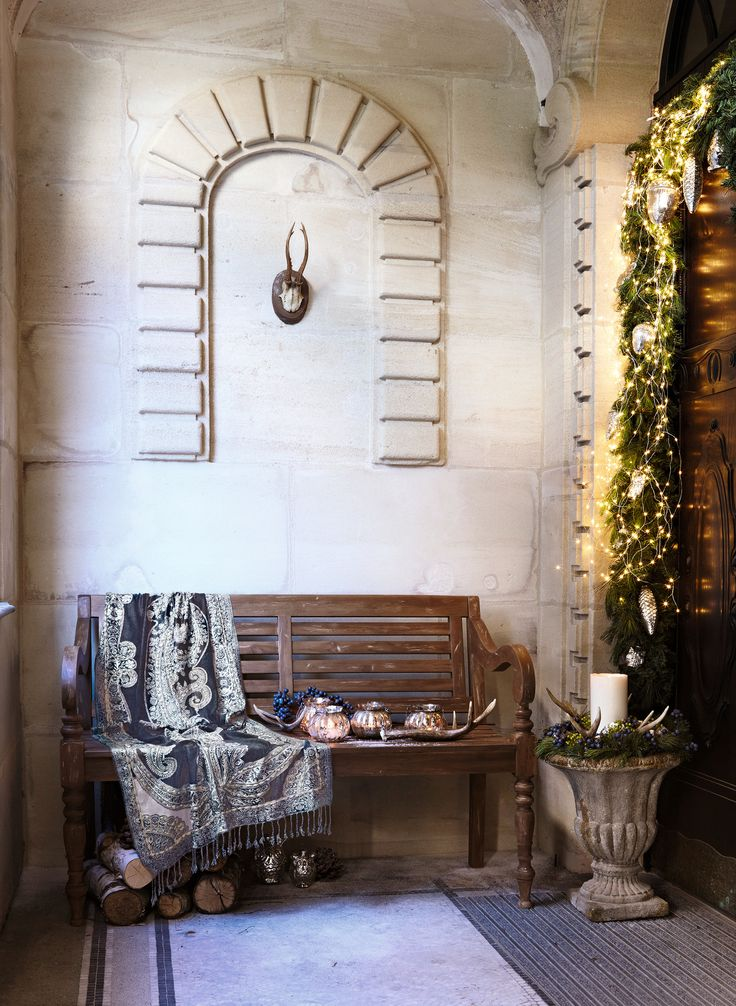 selbst vor der haust r l sst es sich weihnachtlich und gem tlich dekorieren loberon christmas. Black Bedroom Furniture Sets. Home Design Ideas