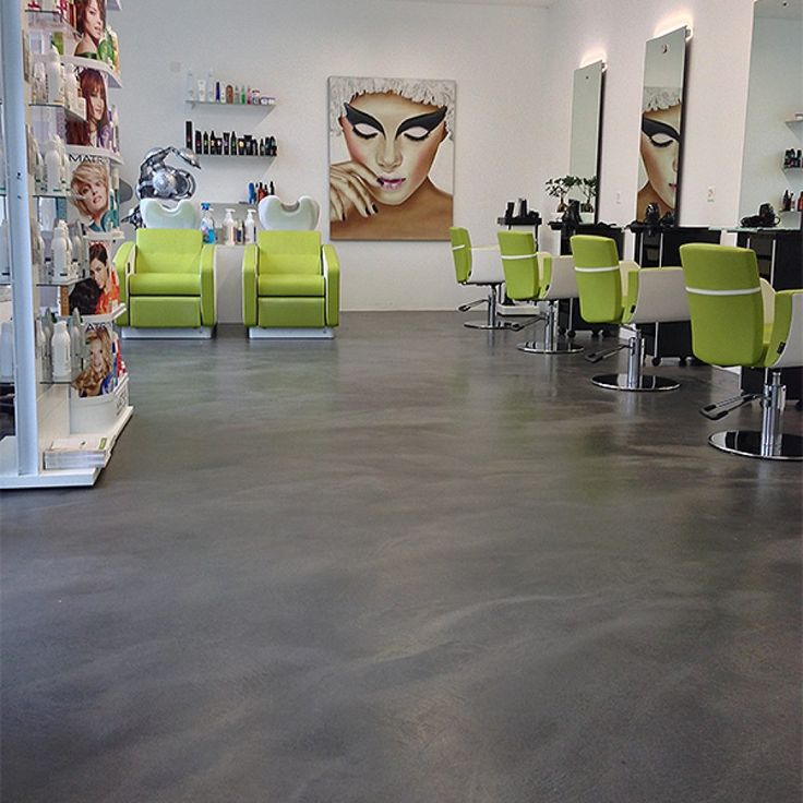 Hair salons don't always have to have boring floors. Look at this #modern one in Zurich featuring SEMCO #seamless #floors