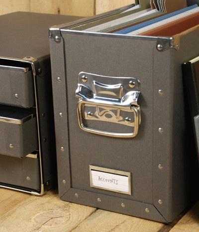 Leuchtturm1917 Dura Box for Suspension Files - Graphite | NoteMaker - Australia's Leading Online Stationery Shop