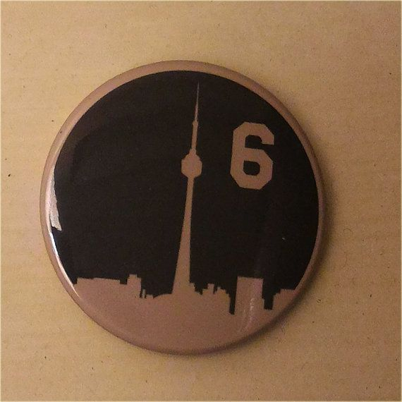 The Six  Toronto Skyline Button by SaavyInc on Etsy