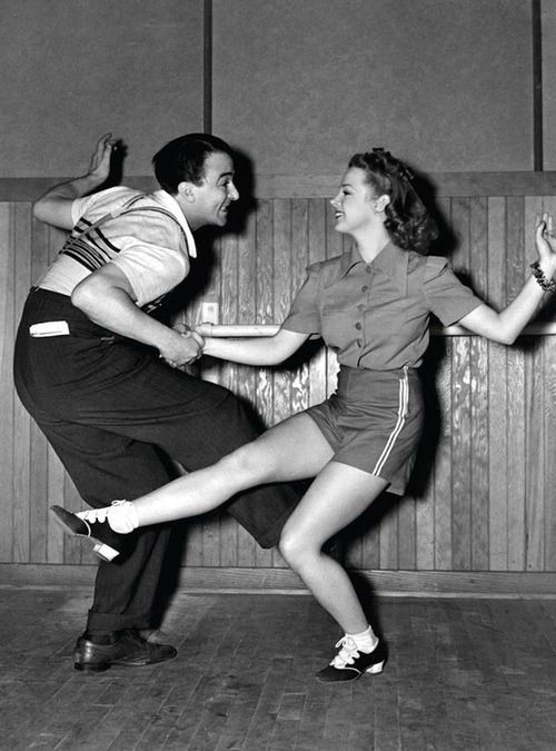 Vintage Dance Photo #vintagecamp. Wow! Sheer joy in dance...
