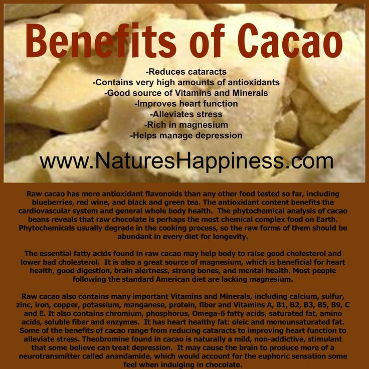 It is also a great source of magnesium, which is beneficial for heart health, good digestion, brain alertness, strong bones, and mental heal...  drinkchoffy.com/cupofcacao