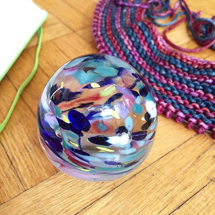 The is the first (and only so far!) glass paperweight I've made  In 2016 totally by chance I started the process of learning a new set of skills: glassblowing and flameworking. It's been so much fun and it's also been frustrating at times to fumble as a beginner at a new craft.  I'm excited to continue to develop my skills and express my creativity through this new to me medium in the new year (along with all of my other art and craft mediums!)  What new thing are you itching to try this…