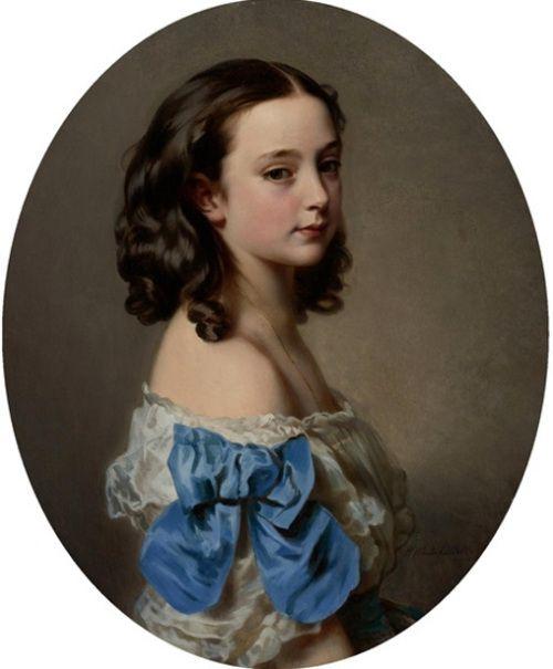 Portrait Of A Young Girl, said to be Paula, Princess Essling, Duchess Of Rivoli