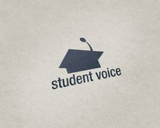student voice Logo design - Logo in the form of student hat. Despite all that, it seems like rostrum. Price $299.00