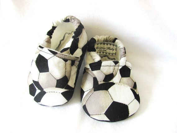 Soccer Baby Boy Shoes, Boy Baby Shoes on Etsy, $20.00