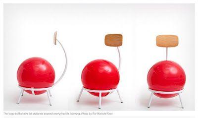 """Τα οφέλη μιας νέας καρέκλας """"μπάλα-yoga"""" για τη σχολική μελέτη"""