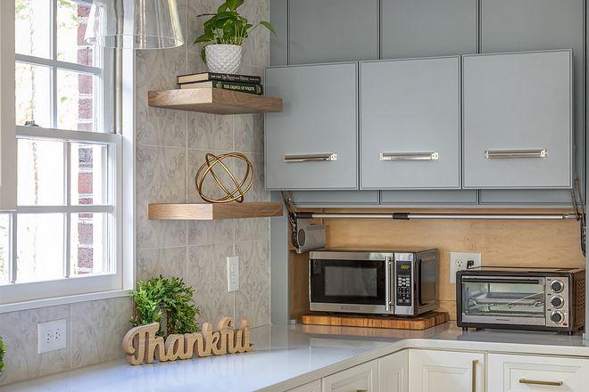 Appliance Garage Kitchen Appliance Garage A Large Cabinet Conceals Appliances And Keeps The Counter White Kitchen Renovation Kitchen Renovation Kitchen Design
