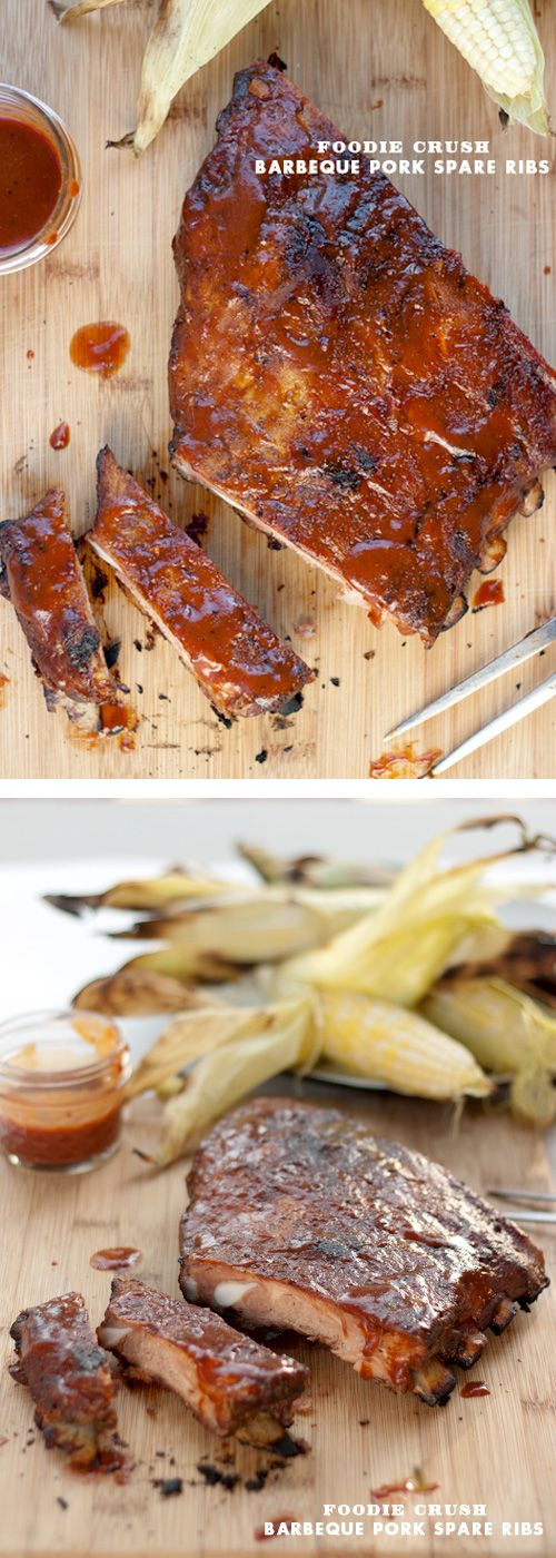 I have the secret to THE BEST Grilled Barbeque Pork Ribs: it's your oven! on foodiecrush.com #recipe #bbq #ribs