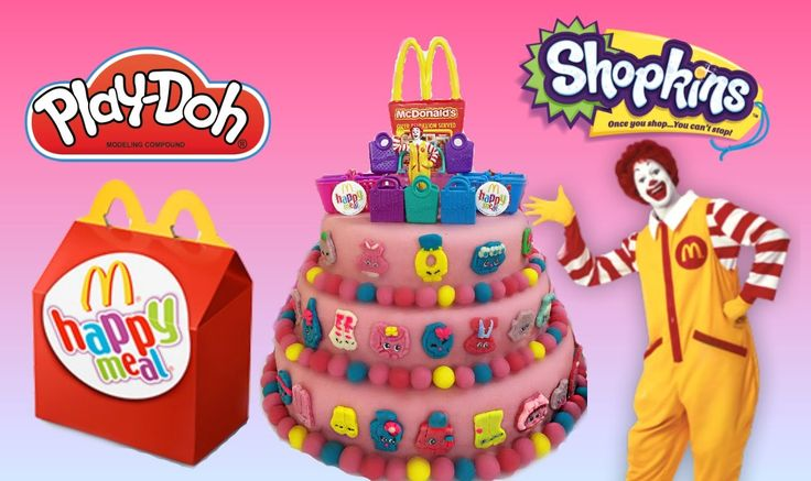 Exclusive Shopkins Mcdonalds Happy Meal Inspired Playdoh Cake Surprises
