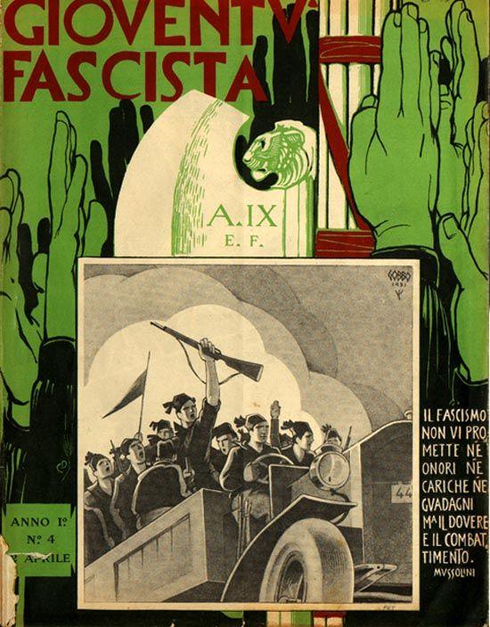 1931. La gioventù fascista è educata alla violenza squadrista.