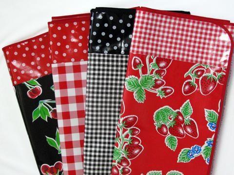 "102"" x 56"" Custom Oilcloth Tablecloth with borders ~ oilclothalley.com"