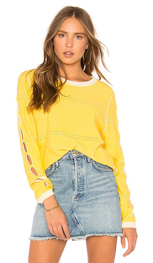 6ba1206102 Shop for Michael Stars Reversible Pullover With Slv Slashes in Dandelion at  REVOLVE. Free 2-3 day shipping and returns
