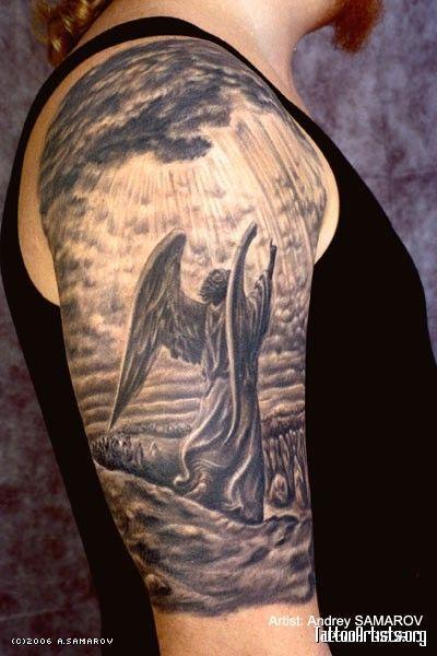 Tatuagem de Anjo | #41 exemplos Variados - Tattoo Finder                                                                                                                                                                                 Mais