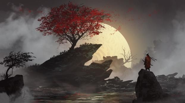 Lone Samurai Wallpaper Hd Fantasy 4k Wallpapers Images Photos And Background Wallpapers Den In 2021 Samurai Wallpaper Desktop Wallpaper Art Anime Wallpaper 1920x1080