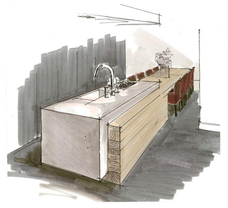 Kitchen Interior Perspective: 25+ Best Ideas About Interior Sketch On Pinterest