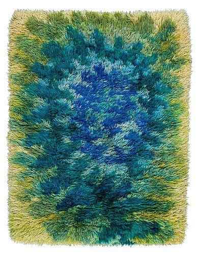 Viola Gråsten, Ormbunke rya rug. 159x116cm. Sverige