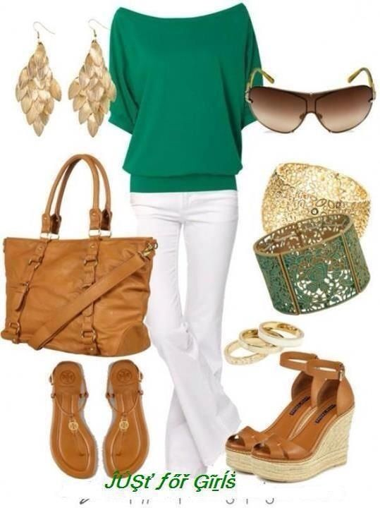 Would love to dress like this, but I would have those white pants dirty after the first half hour. Lol