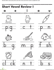 Printables Kindergarten Worksheets Pdf 1000 images about worksheets on pinterest kindergarten this short vowel worksheet gets your child to insert the missing try with kindergartener kin