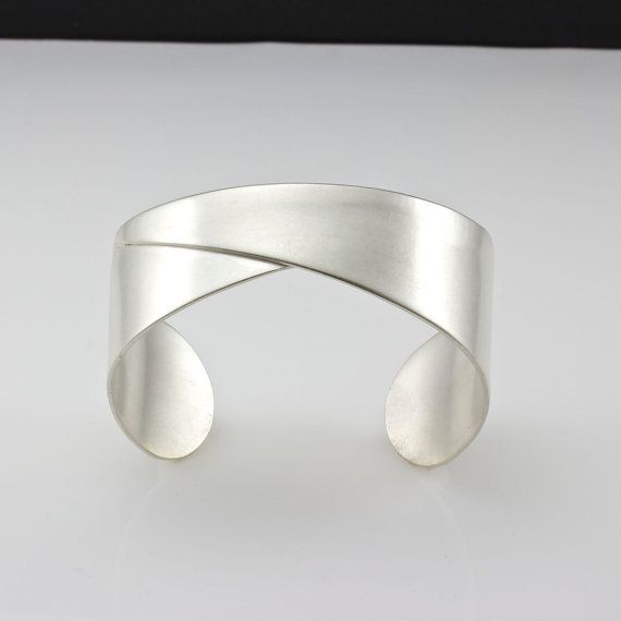 Sterling Silver Cuff Bracelet Silver Cuff by PatCahillMetalworks