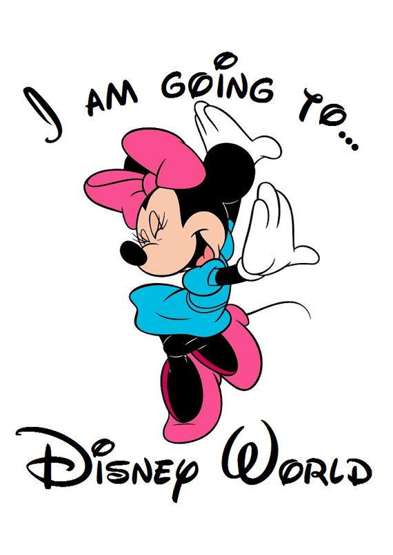 I am going to Disney World Minnie by AreWeThereYetDesigns on Etsy, $5.00