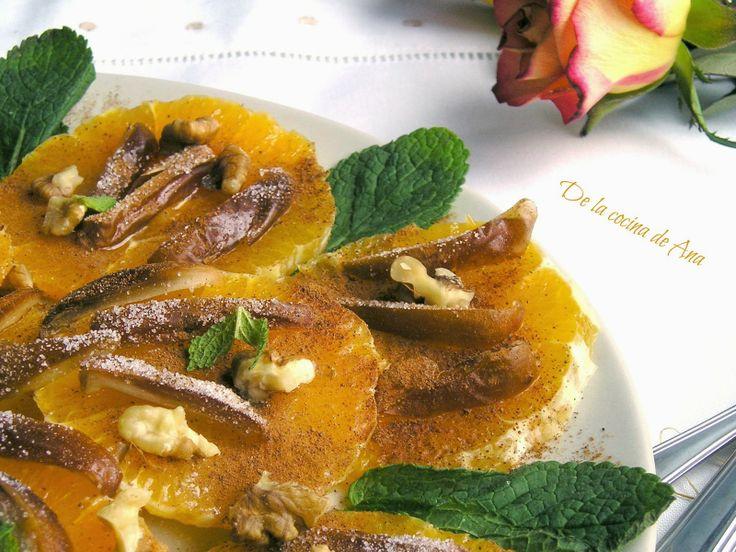 Ensalada de Naranjas, Dátiles y Nueces