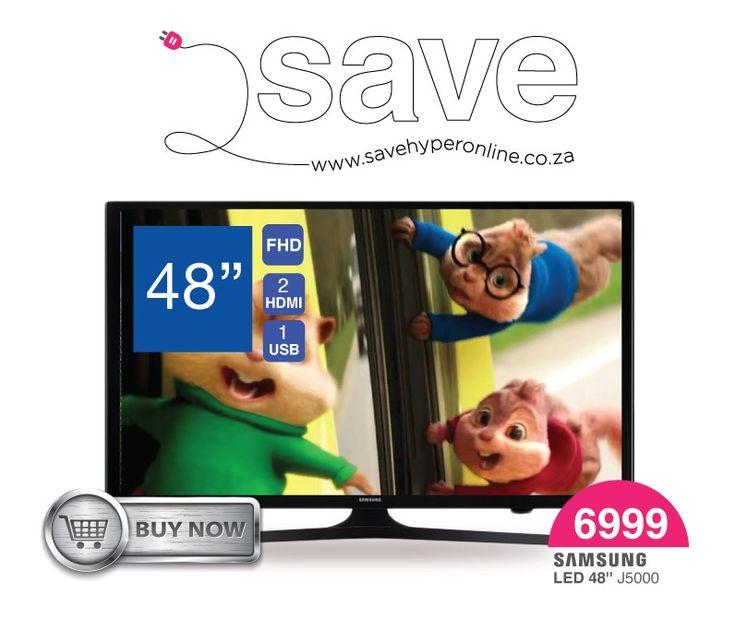#Samsung ua48j5000 now on sale at R6999.00. Shop now @ http://savehyperonline.co.za/samsung-ua48j5000-fhd-led-tv
