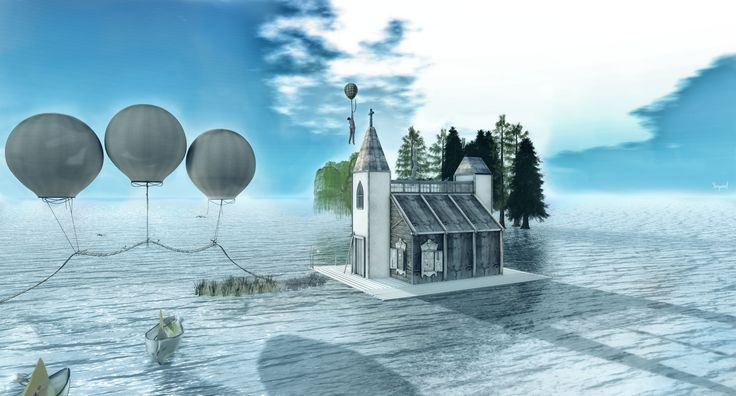 https://flic.kr/p/yAvsHf | Mind is like a balloon,  attracting random ideas | maps.secondlife.com/secondlife/Mystical%20Falls/26/169/8