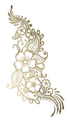 biege and gold flower clipart - Google Search