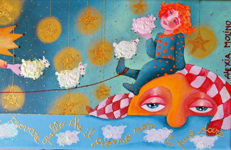 Alexia Molino - Sogna, perché nel sonno puoi trovare quello che il giorno non ti può dare (20x50 particolare) https://www.facebook.com/alexiamolinoillustration/