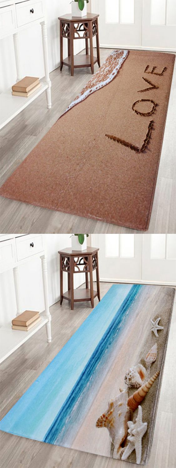 Wall to wall bathroom carpet - Beach Coral Velvet Soft Absorbent Bathroom Rug