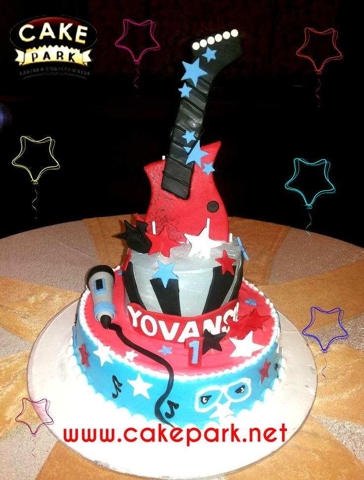 For a Rock Star Birthday Party!!! Here's a party that rocks. Electric Guitar Birthday Cake You'll be a total rock star to your kids when you make a sweet surprise with this cake.  Visit: www.cakepark.net/birthday-cakes.html / reach us @ 9444915533 #guitarcake #birthday #party #cakepark