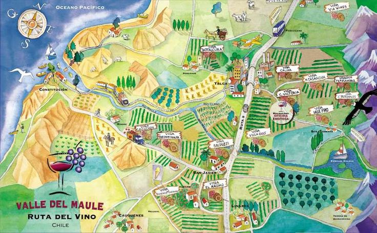 Map of Valle del Maule - Chile