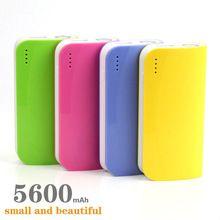NOVO banco de potência Carregador Portátil powerbank Bateria Externa 5600 mAh Móvel USB carregador de bateria portatil para todo o telefone(China (Mainland))