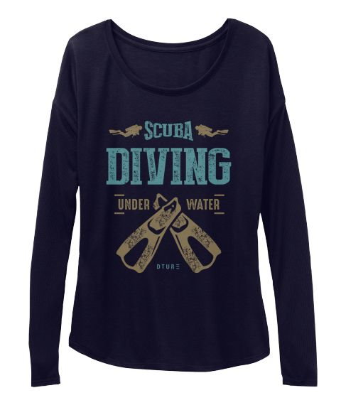 Scuba Diving Under Water D T U R Midnight T-Shirt Front