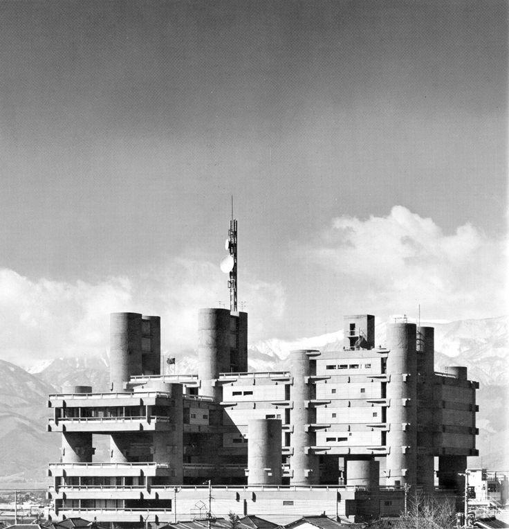 Yamanashi Broadcasting and Press Center   1962-66   Kofu, Japan   Architect…