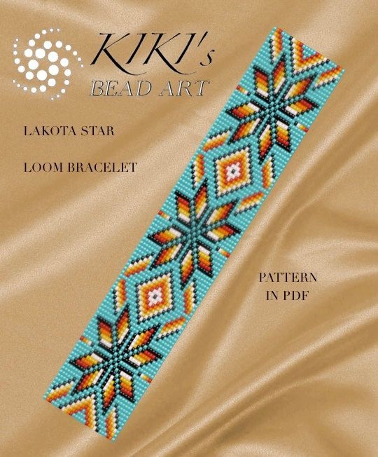 Bead loom pattern - Lakota star - LOOM bracelet PDF pattern instant download by KikisBeadArts