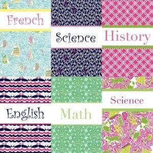 free editable binder covers   DIY: Preppy Monogrammed Binder Covers by Bertha Duenas