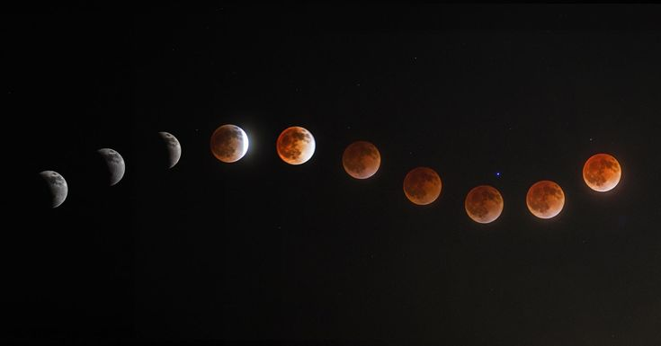 My composite moon image made it in! (it's the one that looks like a flower shape)  37 Magical Blood Moon Eclipse Photos