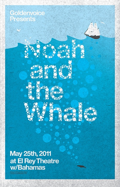 Noah and the Whale gig poster