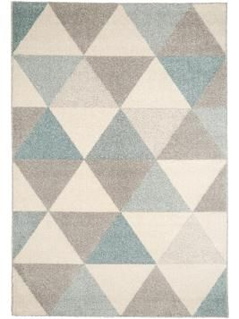Kurzflor-Teppich Pastel Geomet Türkis 80x150 cm