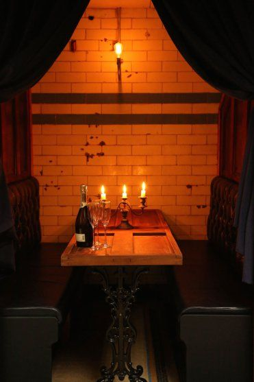 Private booth for hire for 6 people