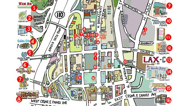 Chinatowns best attractions and restaurants map  Restaurants