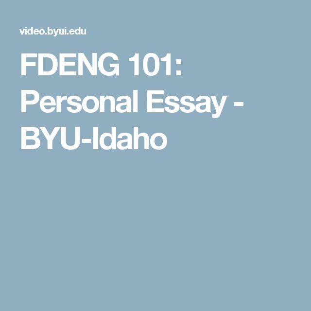 admission essay university