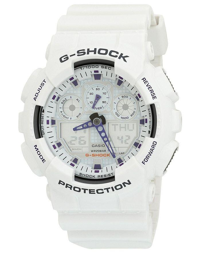 G-Shock GA100A-7A X-Large Men's White Resin Sport Watch *** For more information, visit image link.