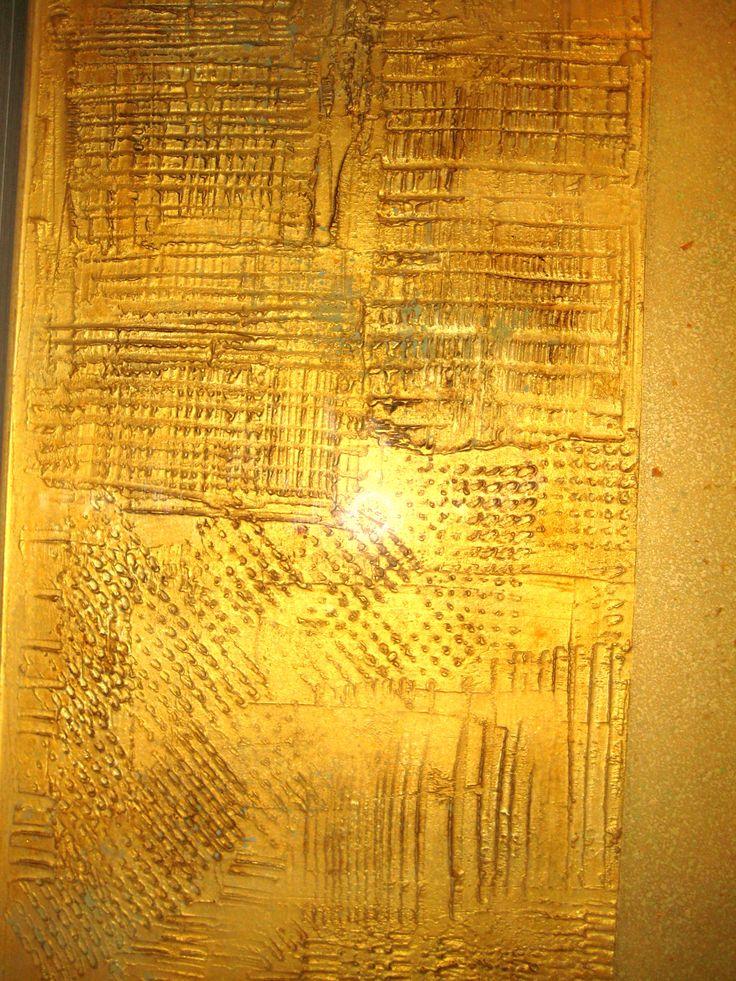Dettaglio decorazione Pannelli d'arte per armadio ante scorrevoli -bassorilievo materico-effetto brillante by Giovanna